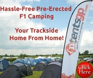 pre erected camping for British F1 Grand Prix