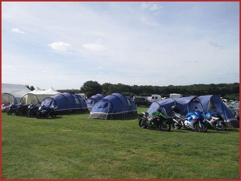 intentsGP campsite for the British MotoGP