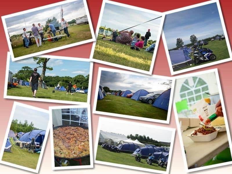 Collage of intentsGP F1 and MotoGP Campsites