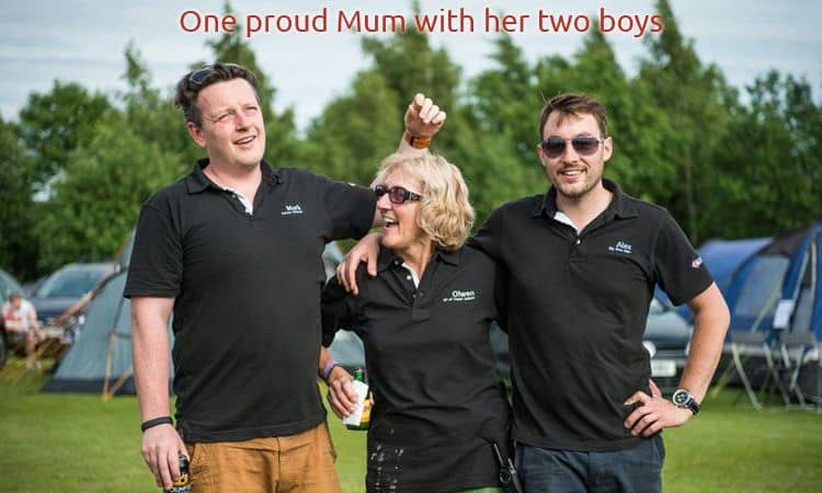 A proud mum with her two boys