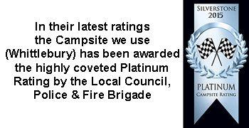 whittlebury campsite platinum rating 2015
